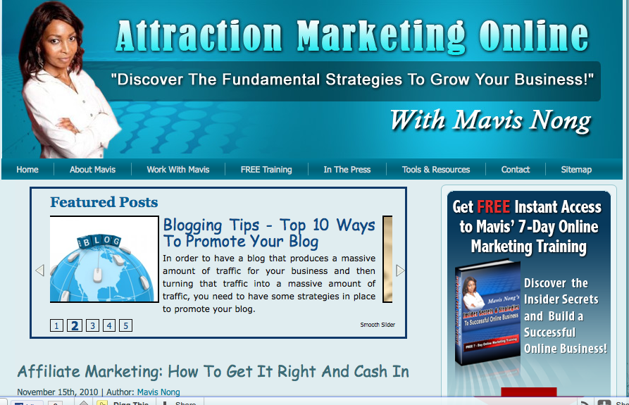 attraction marketing online home page