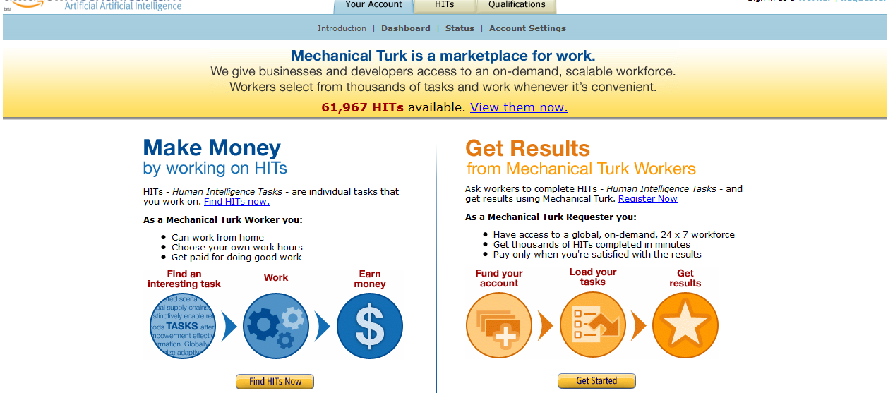 outsource mturk image