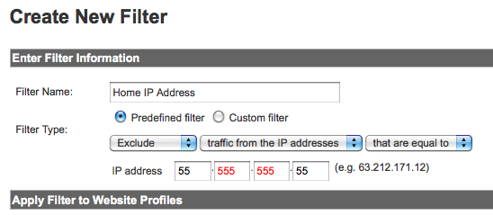 how to filter your ip address in google analytics