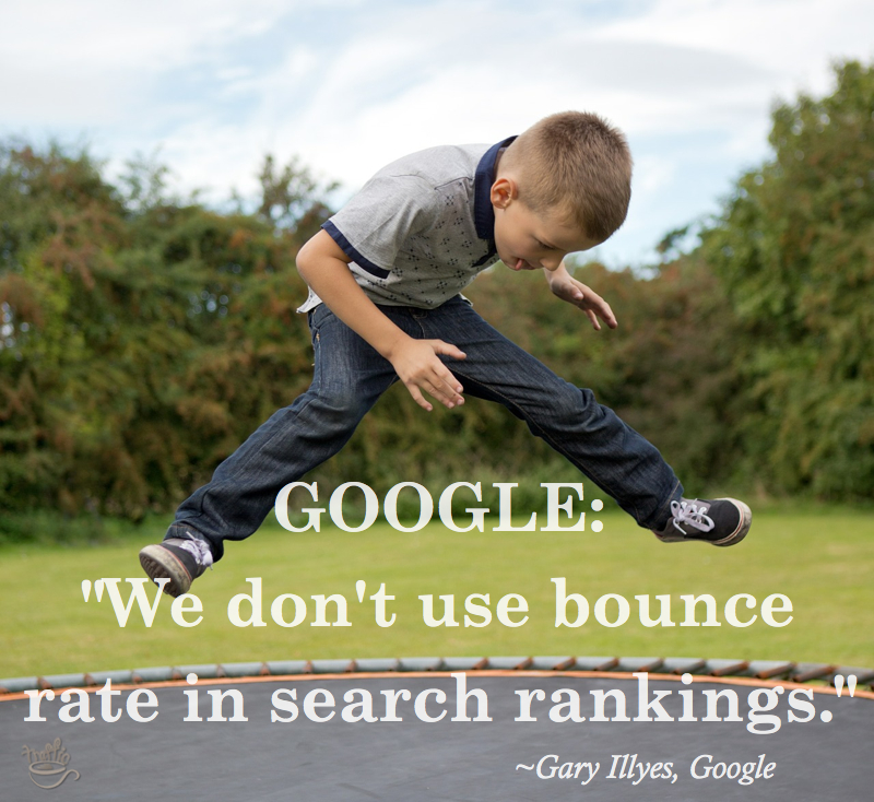 Google doesn't use analytics bounce rate in search rankings. - Gary Illyes