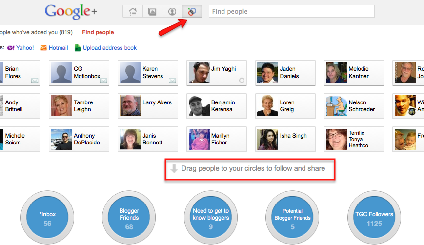google plus social circles