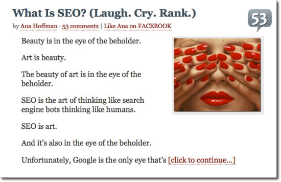 great writing what is seo