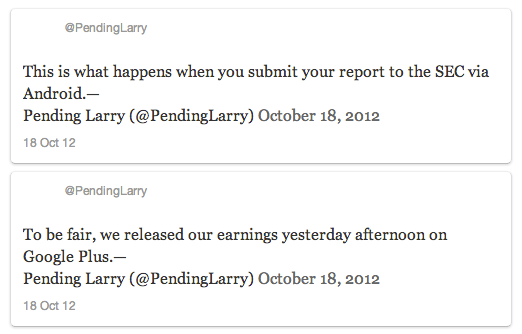 @pendinglarry tweets