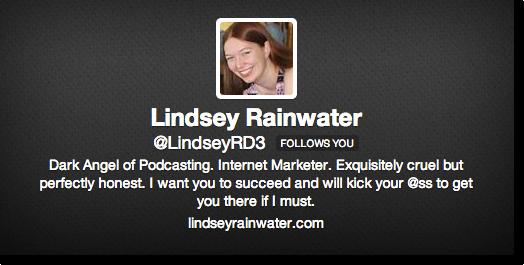 funny twitter bio Lindsey rainwater