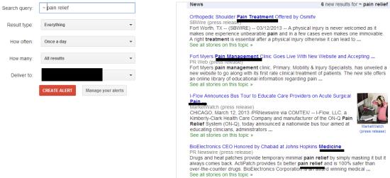google alerts niche research