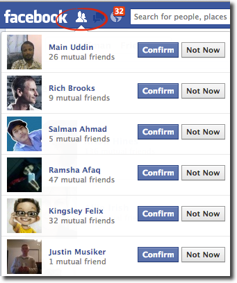 turn facebook friend requests into fans