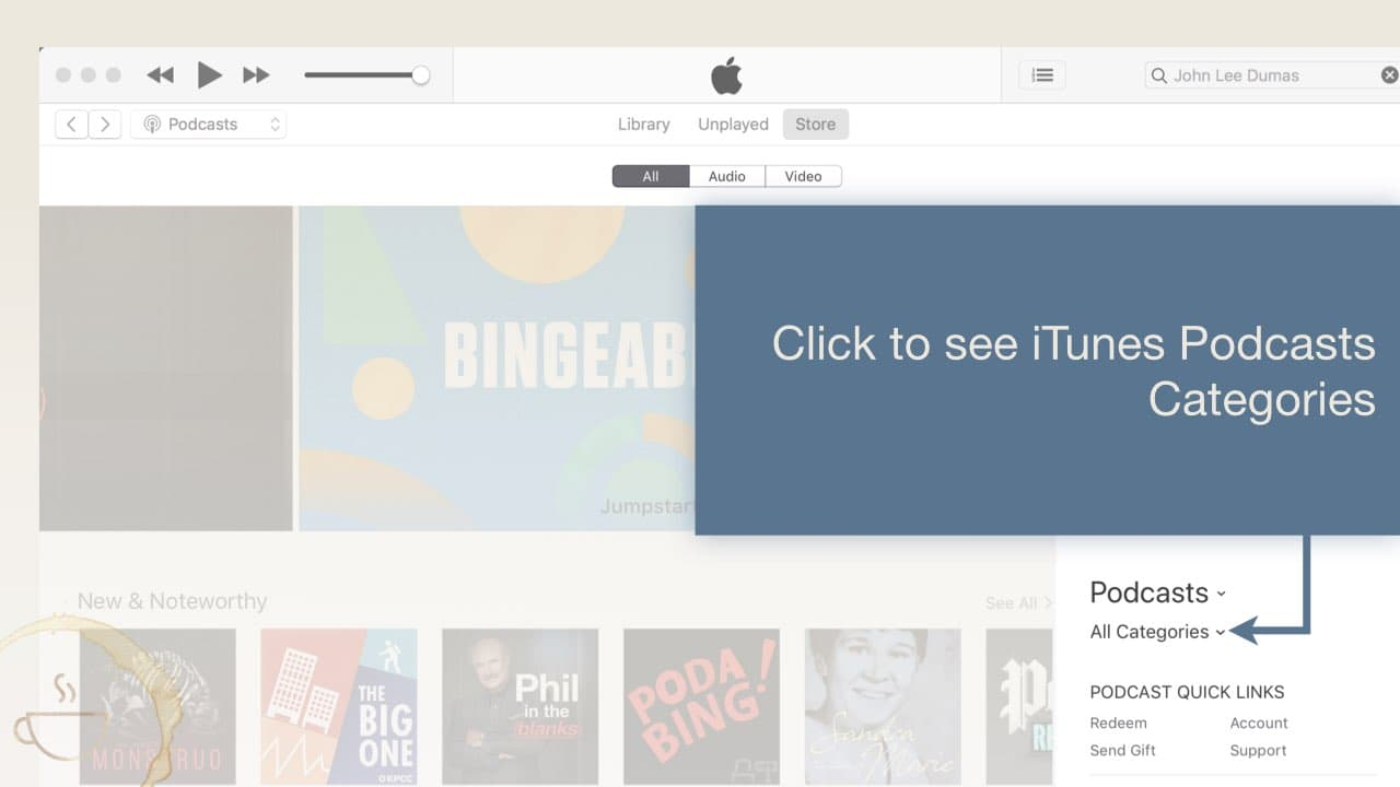 here's where you find iTunes Podcast Reviews categories