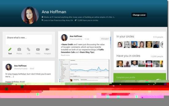 ana Google+ profile