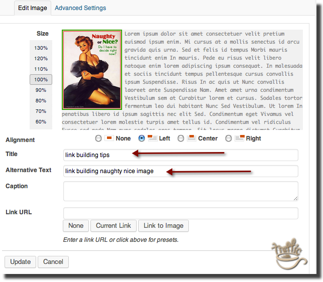 how to add image tags