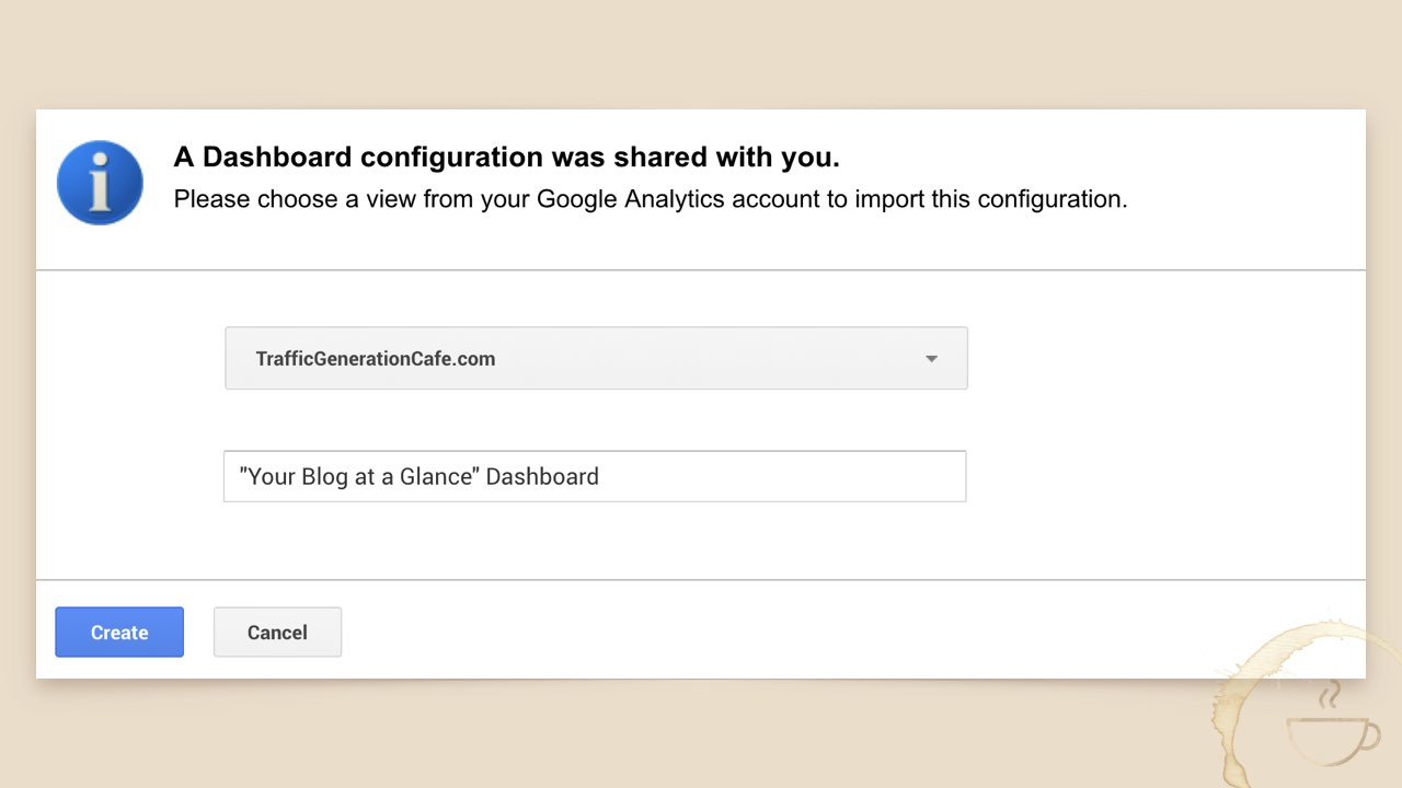 How to download a Google Analytics Dashboard