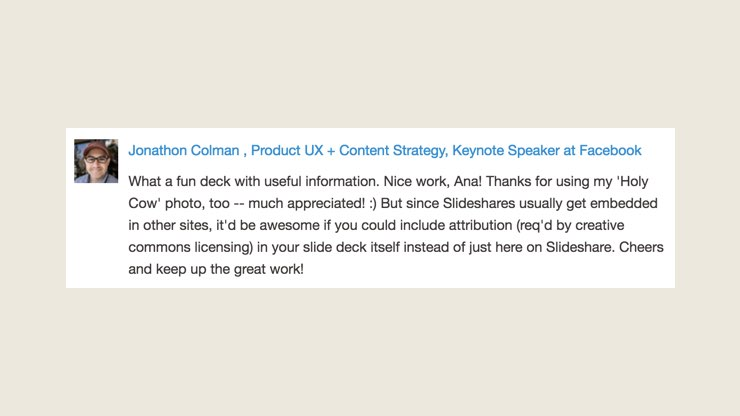Using Free Blog Post Image in a SlideShare presentation