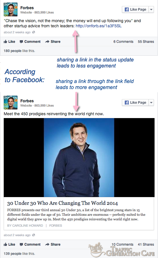 new facebook sharing tip