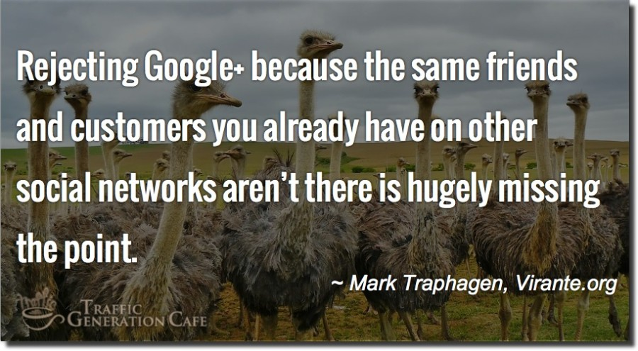 what google+ means to search traffic