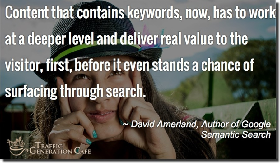 are keywords still important to get seo traffic