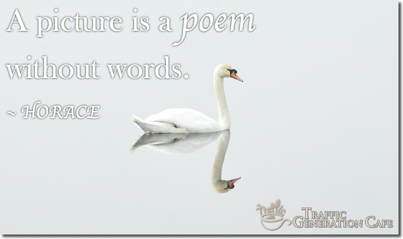 blog post image is a poem - quote from Horace