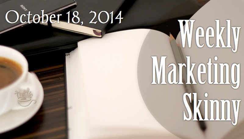 Your weekly marketing news October 18, 2014
