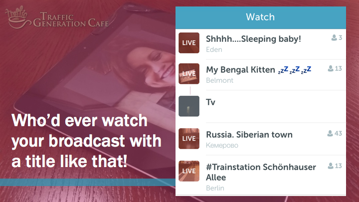 Periscope on iOS Tutorial: create better broadcast titles