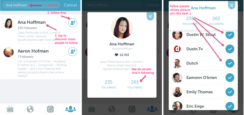 How to find people to follow on Periscope