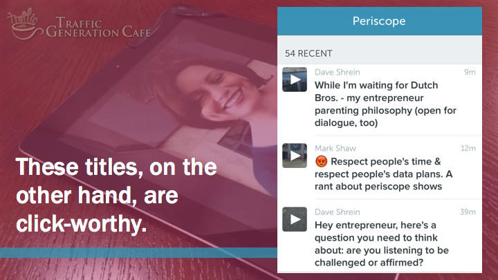 Periscope Tutorial: how to write a great broadcast titles
