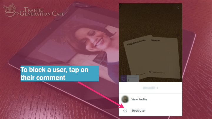 Periscope on Android Tutorial: how to block user