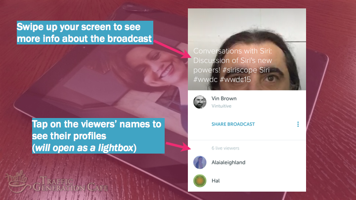 Periscope on Android Tutorial: follow broadcast viewers