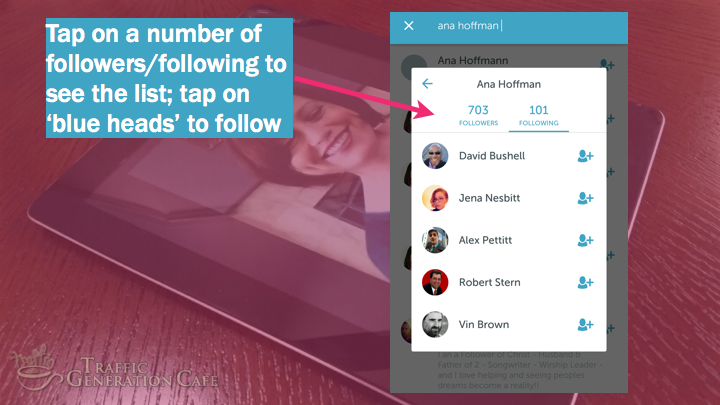 Periscope on Android Tutorial: follow users on other followers' lists