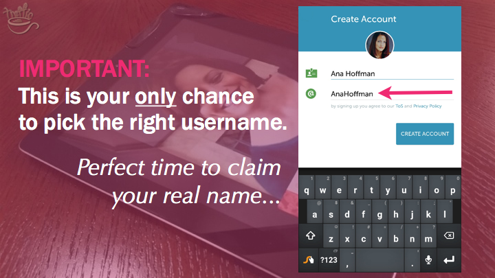 Periscope on Android Tutorial: how to pick your username