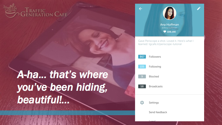 Periscope on Android Tutorial: profile aha moment
