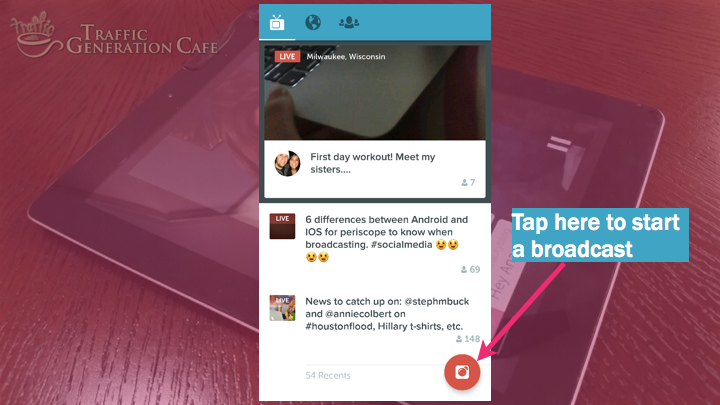 Periscope on Android Tutorial: how to start broadcast