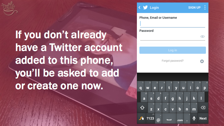 Periscope on Android Tutorial: set up a new Twitter account