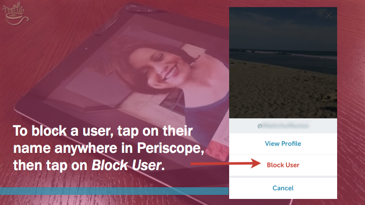 Periscope iOS Tutorial: how to block Periscope user