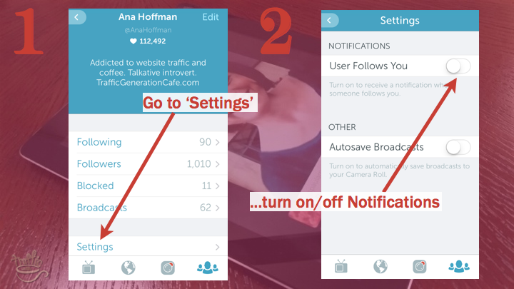 Periscope iOS Tutorial: how to turn on and off Periscope notifications