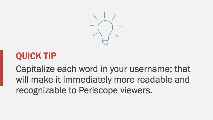 Periscope iOS Tutorial: username tip