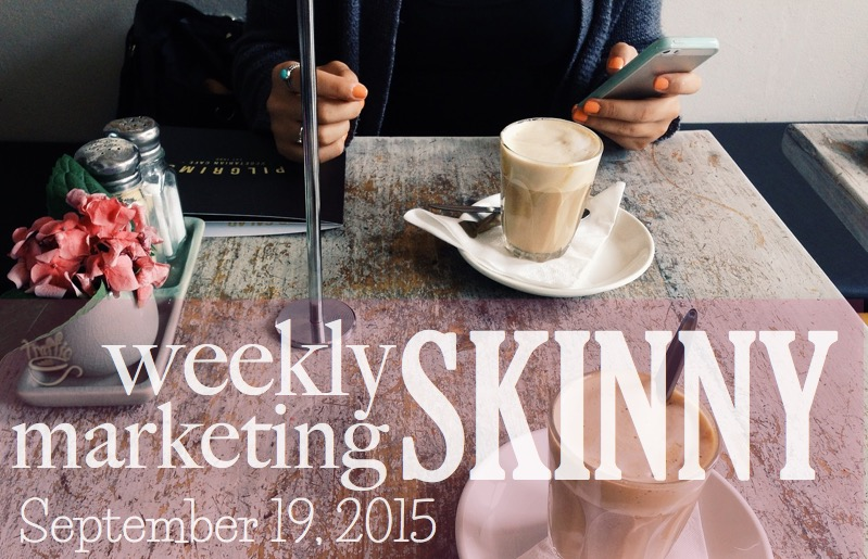Weekly marketing news September 19, 2015