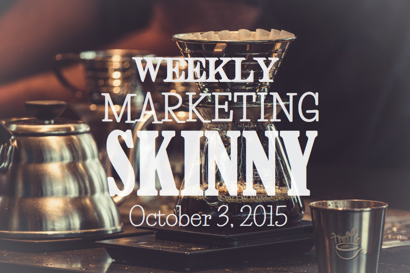 Weekly marketing news October 3, 2015