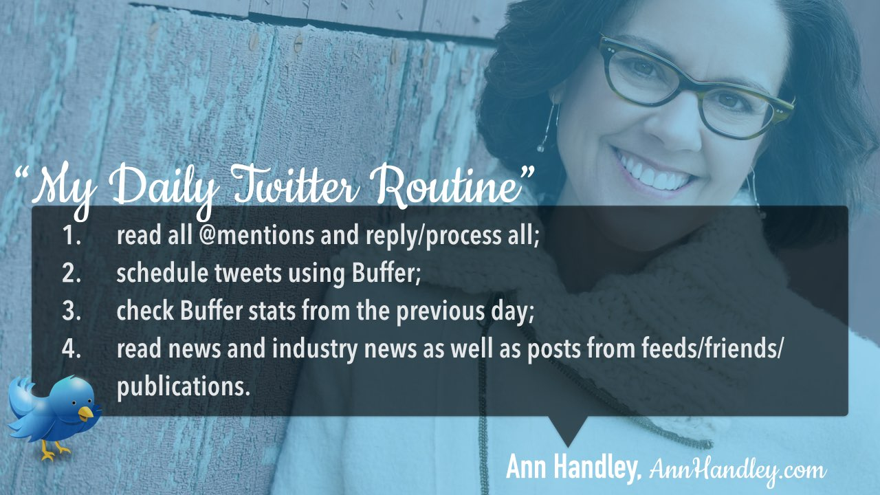 Twitter daily management routine Ann Handley