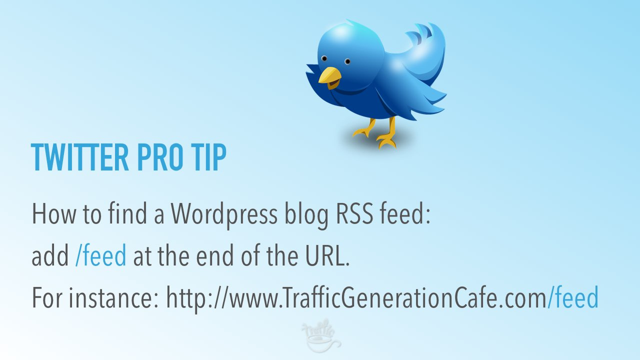 Twitter management routine: how to find blog rss feed