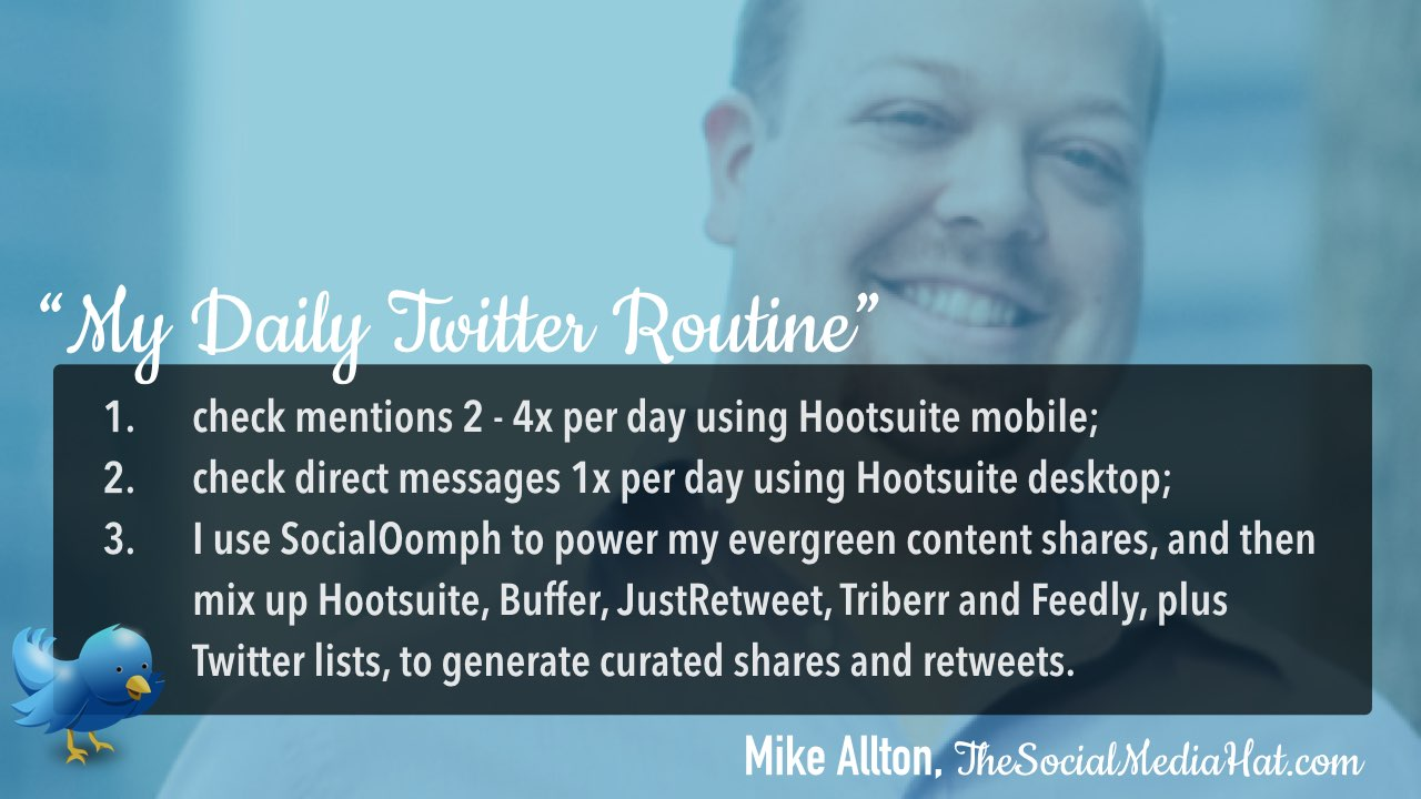 Twitter daily management routine Mike Allton