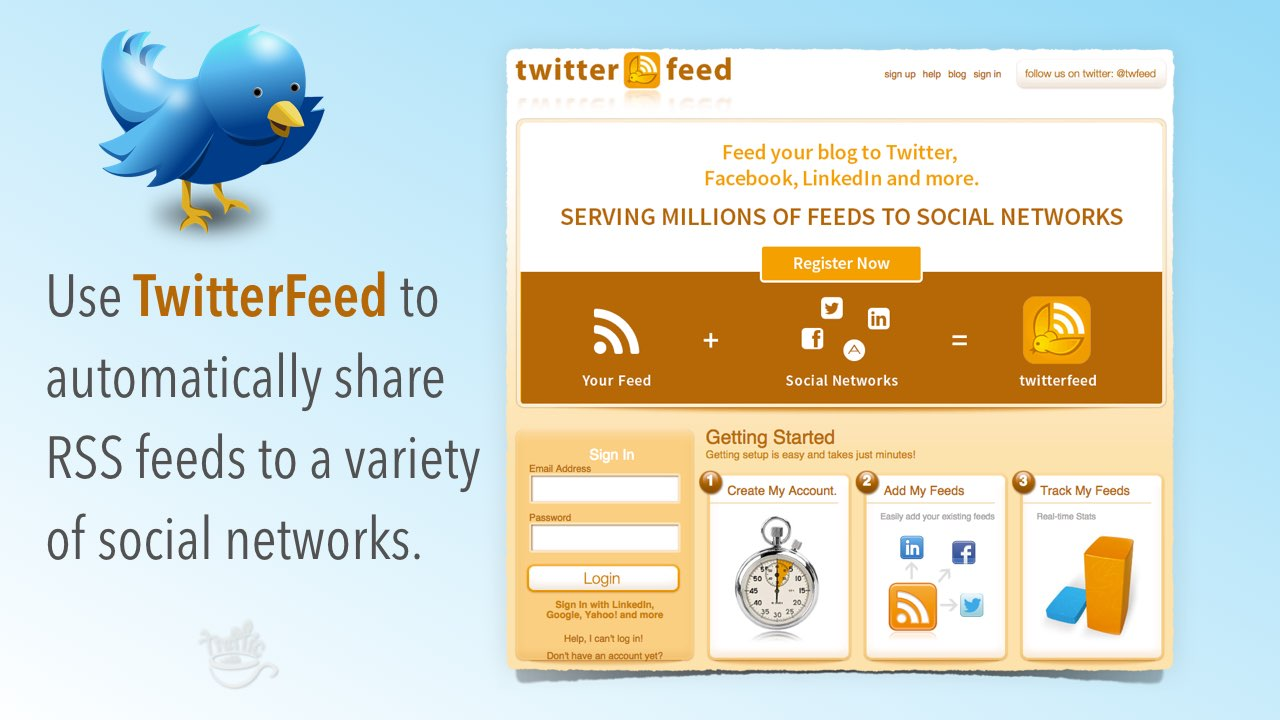 How to manage RSS feeds with Twitterfeed