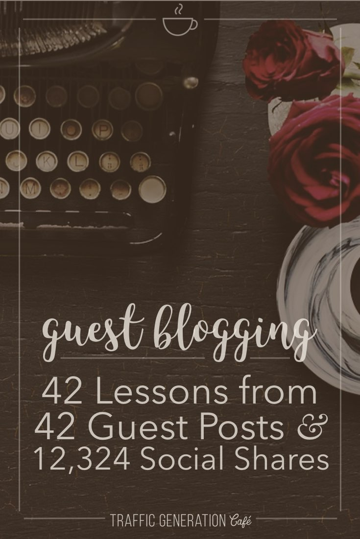 Guest blogging has put many a business on the map. Why not this one? Read what I've learned after publishing 42 guest blog posts (the good and the bad!) and how it's taken my business to the next level. http://tgcafe.it/guest-post-lessons