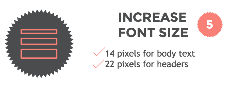 how to make fonts bigger without increasing text size