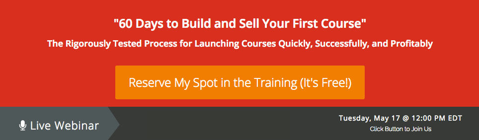 How to create an online course webinar