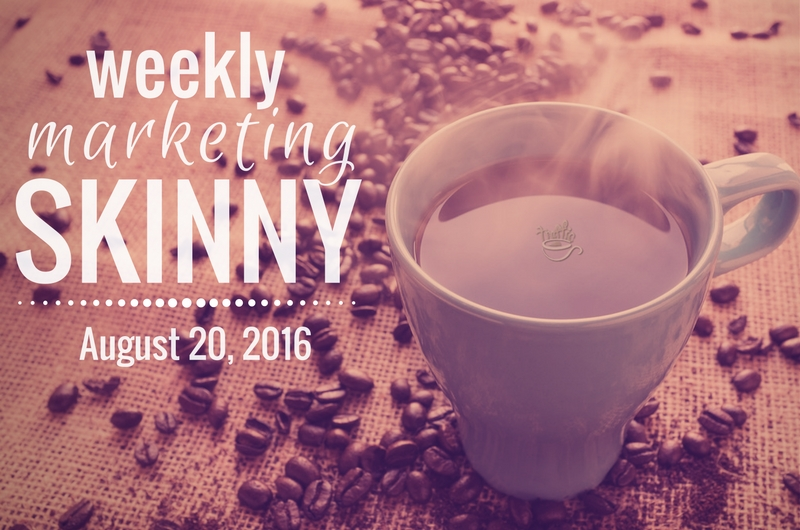 Find your Weekly Marketing news august 20, 2016 here