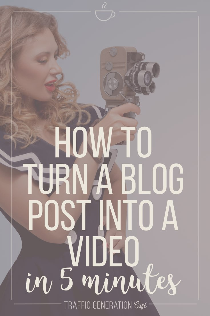 📝  to 🎥  Turn a Blog Post into a Video in 5 Minutes [#TrafficHack] https://trafficgenerationcafe.com/turn-articles-into-videos/