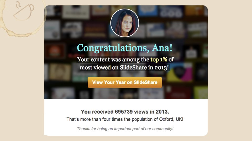 End result: SlideShare Traffic 2013 stats