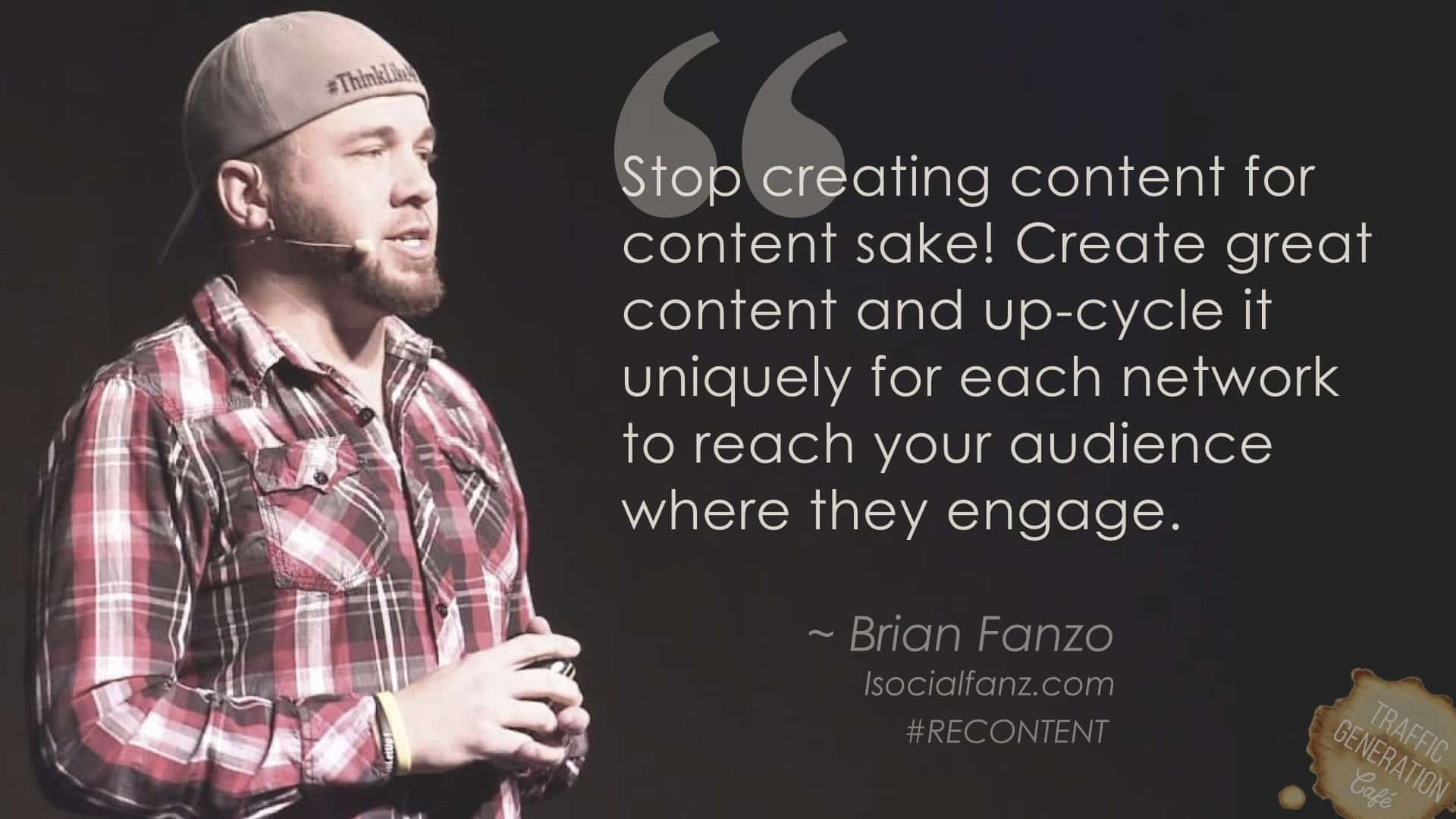 content repurposing by brian fanzo
