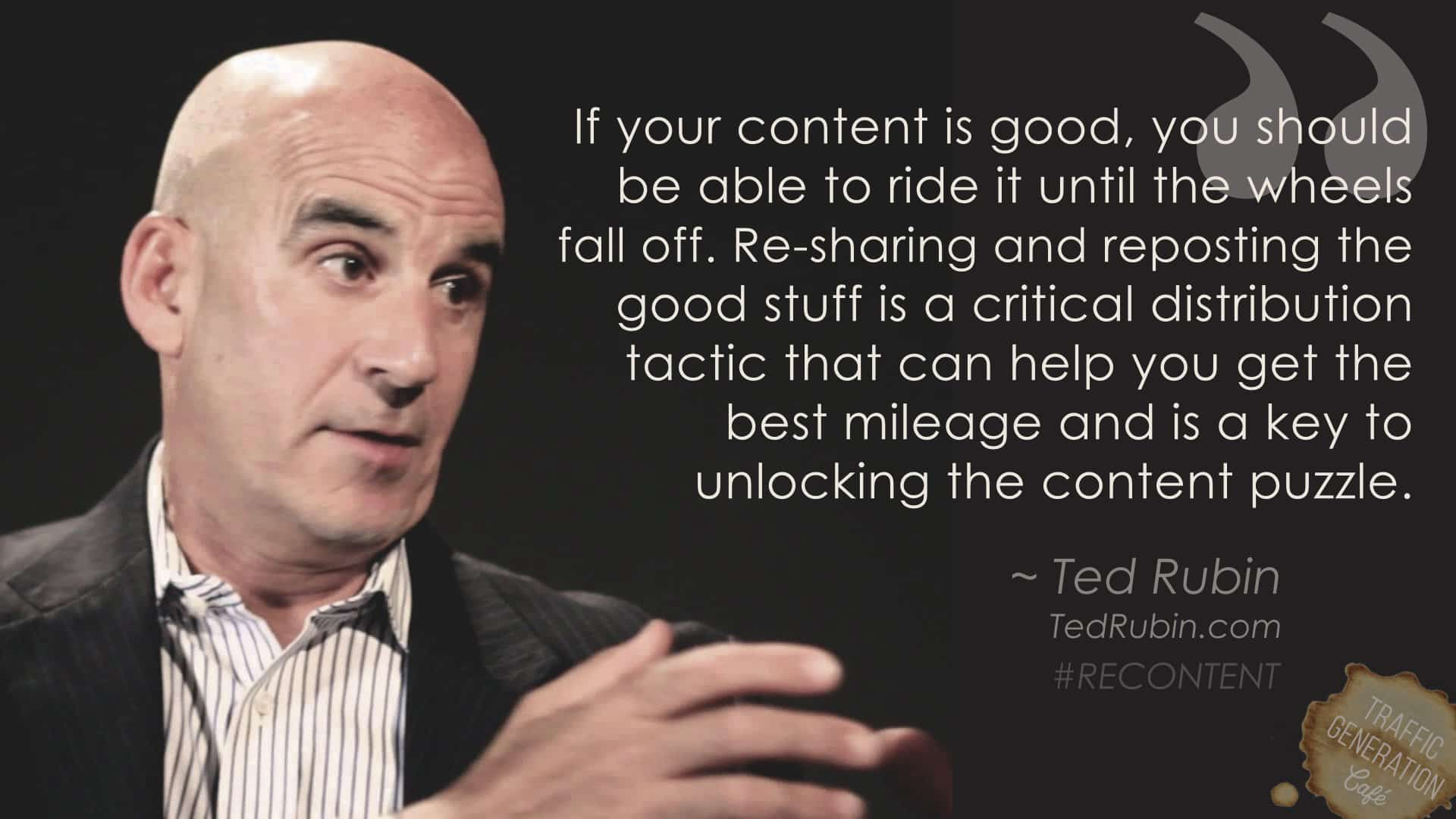 content repurposing by Ted Rubin