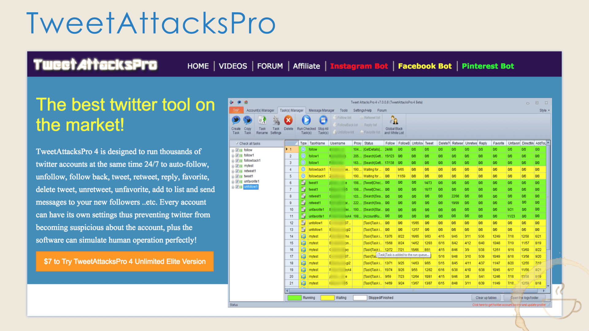 TweetAttacksPro, the best Twitter tool for the Twitter daredevil.