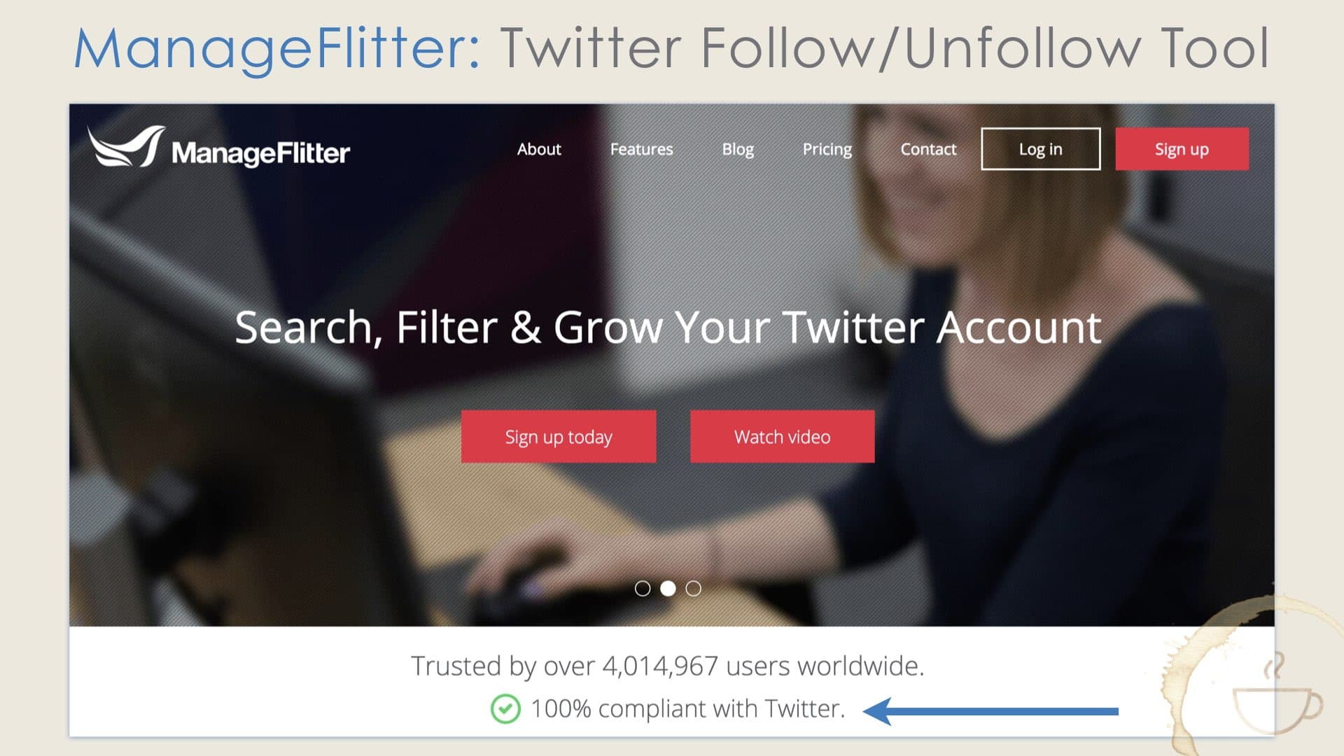 RIP ManageFlitter.com, best Twitter tool for following and unfollowing.
