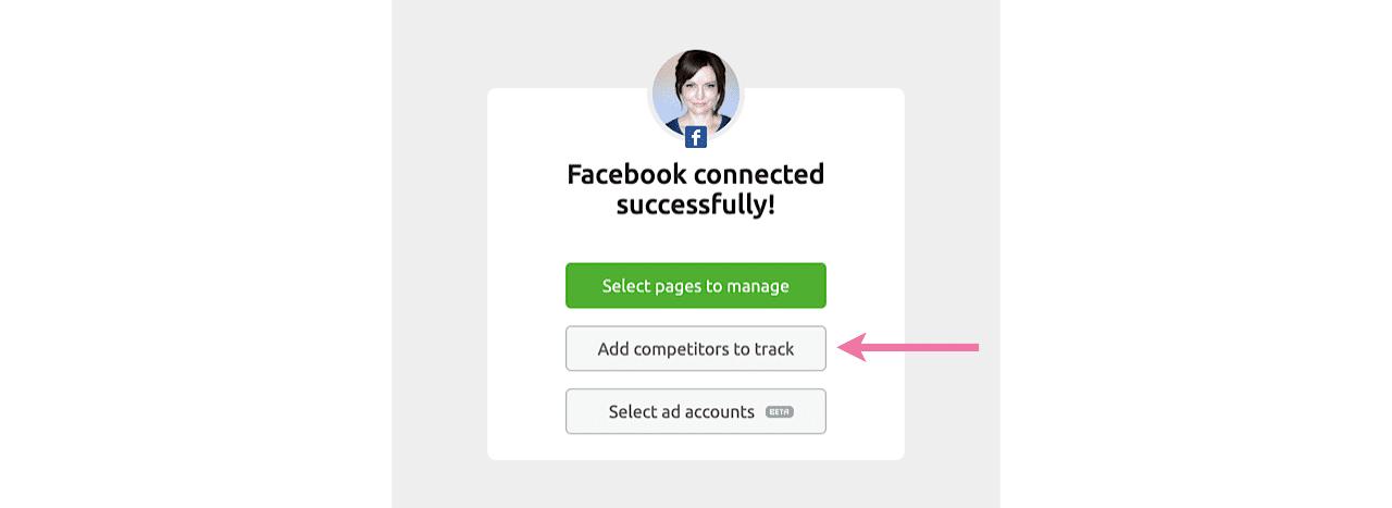 Add competitors in SEMrush Social Media Tracker